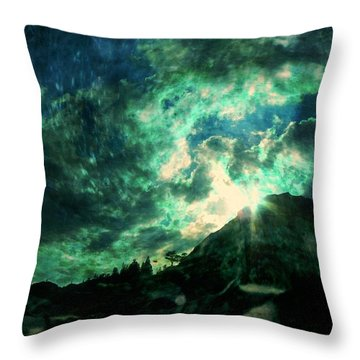 Twisted Nimbus Throw Pillow by Leah Moore