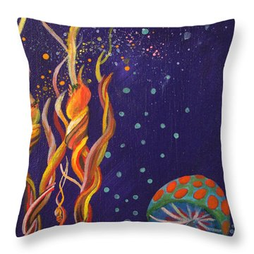 Twisting In The Night Throw Pillow by Mindy Huntress