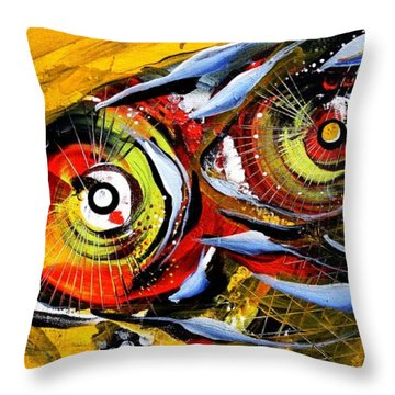 Two Around The World Throw Pillow