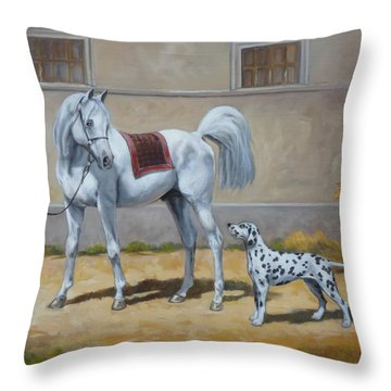 Two Buddies Throw Pillow