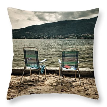Two Chairs Throw Pillow by Joana Kruse
