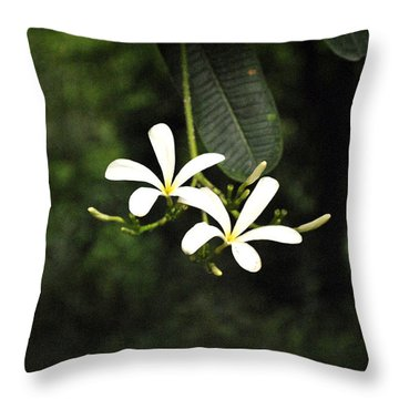 Two Flowers Throw Pillow by Sumit Mehndiratta
