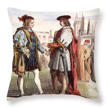 Two Gentlemen Of Verona Throw Pillow by Granger