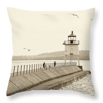 Two Harbors Throw Pillow