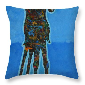 Two In Blue Throw Pillow by Lance Headlee