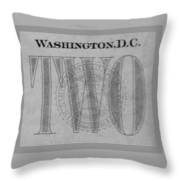 Two In Grey Throw Pillow by Rob Hans