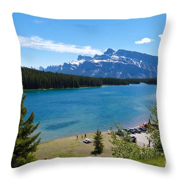 Two Jack Lake Throw Pillow by Bob and Nancy Kendrick
