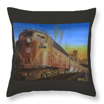 Two Minutes Late Throw Pillow by Christopher Jenkins