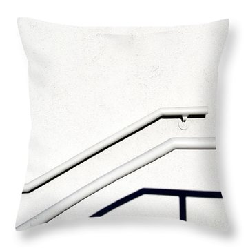 Two Rails Throw Pillow by CML Brown