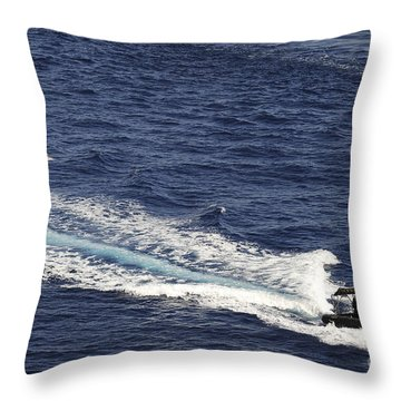 Two Spanish Navy Ridged-hull Inflatable Throw Pillow by Stocktrek Images