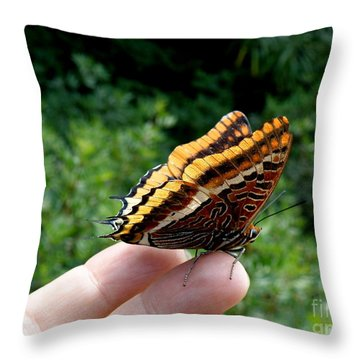 Two Tailed Pasha Throw Pillow by Lainie Wrightson