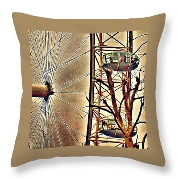 Two Thousand Spikes In London Throw Pillow