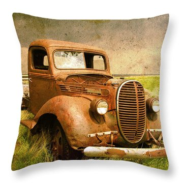 Two Ton Truck Throw Pillow by Alyce Taylor