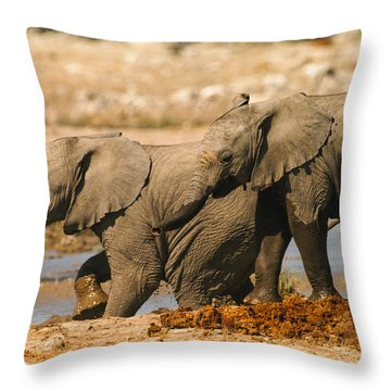 Two Up Throw Pillow