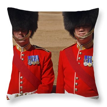 Two Warrant Officers Of The Irish Throw Pillow by Andrew Chittock