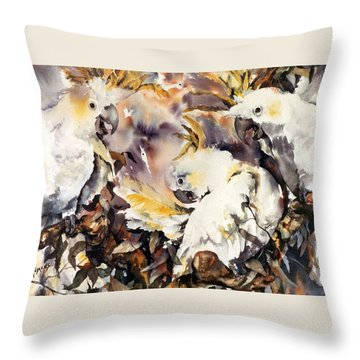 Throw Pillow featuring the painting Two's Company by Rae Andrews