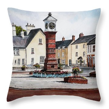 Twyn Square Usk Throw Pillow by Andrew Read