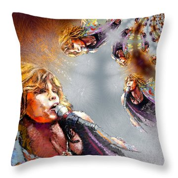 Tyler Mania Throw Pillow