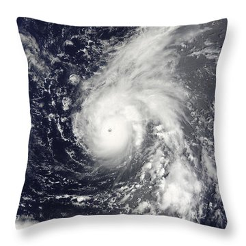 Typhoon Vamco In The Pacific Ocean Throw Pillow by Stocktrek Images