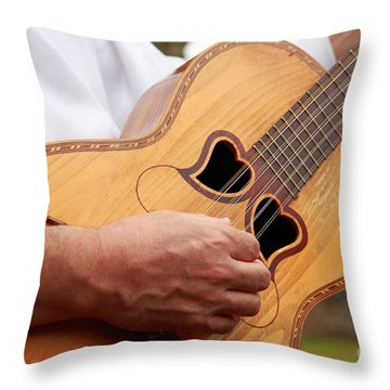 Typical Azores Guitar Throw Pillow by Gaspar Avila