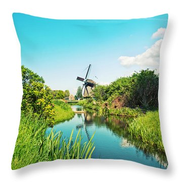 Typical Dutch  Windmill Throw Pillow