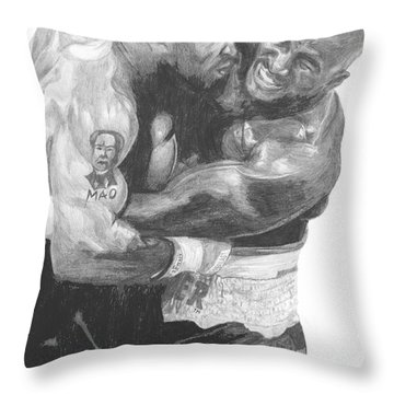 Tyson Vs Holyfield Throw Pillow