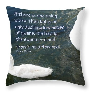 Ugly Duckling Throw Pillow by Ian  MacDonald