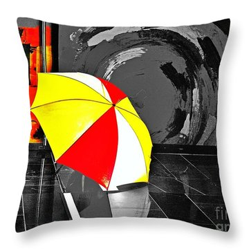 Umbrella 2 Throw Pillow by Blair Stuart