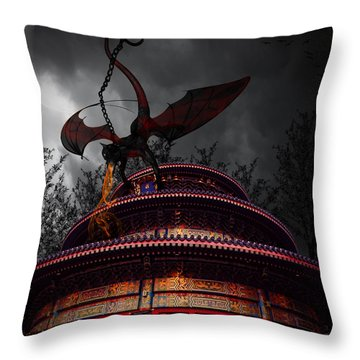 Unchained Protector Throw Pillow by Lourry Legarde