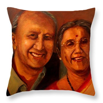 Uncle And Aunt Throw Pillow