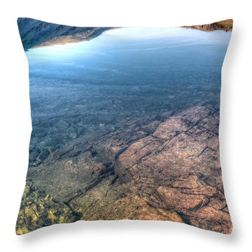 Under A Lake Throw Pillow by Svetlana Sewell