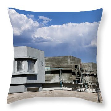 Under Construction Palm Springs Throw Pillow
