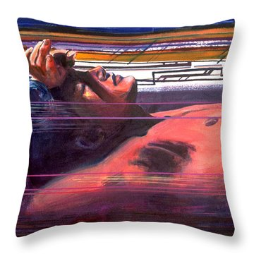 Under Lying Currents Throw Pillow by Rene Capone