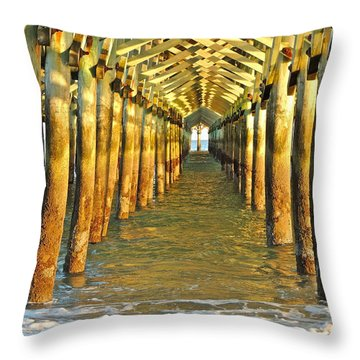 Under The Boardwalk Throw Pillow by Eve Spring