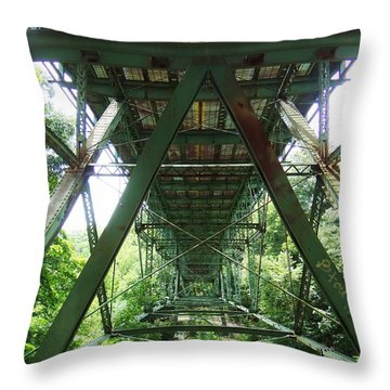 Under The Green Bridge 2 Throw Pillow