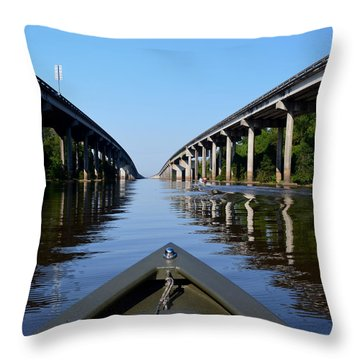 Under The Interstate Throw Pillow by Maggy Marsh