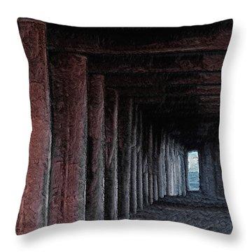 Under The Pier 2 Throw Pillow by Ernie Echols