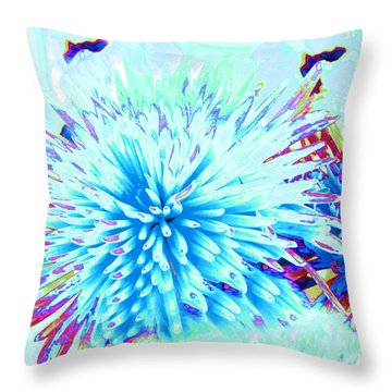 Under The Sea Throw Pillow by Cindy Lee Longhini