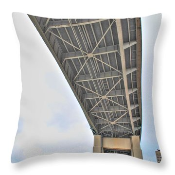 Throw Pillow featuring the photograph Under The Skyway by Michael Frank Jr