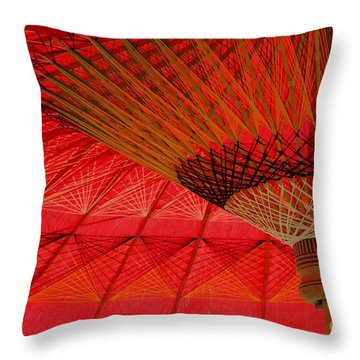 Under The Umbrella Throw Pillow by Nola Lee Kelsey