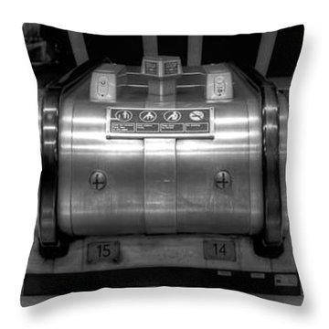 Underground Escalator Throw Pillow by Svetlana Sewell