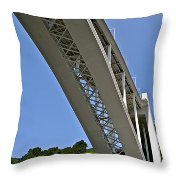 Underside Of Beautiful Bridge Throw Pillow by Kirsten Giving