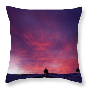 Throw Pillow featuring the photograph Undine Sunset by J L Woody Wooden