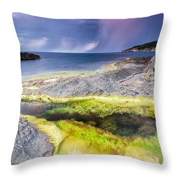 Unexpected Storm Throw Pillow by Evgeni Dinev