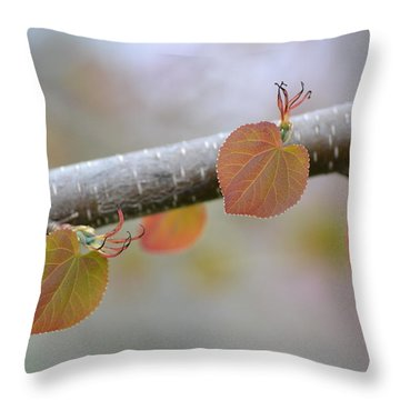 Throw Pillow featuring the photograph Unfurling Buds In The Heart Of Spring by JD Grimes