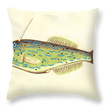 Unicorn Fish Throw Pillow