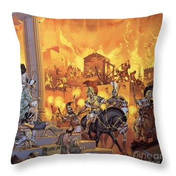 Unidentified Roman Attack Throw Pillow by Angus McBride