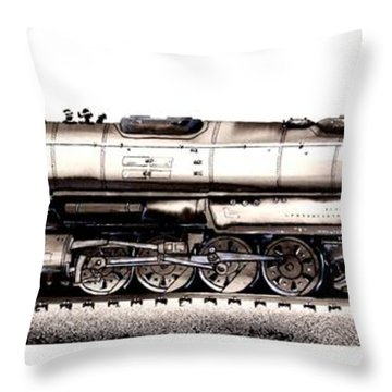 Union Pacific 4-8-8-4 Steam Engine Big Boy 4005 Throw Pillow