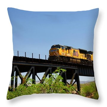 Union Pacific 5145 Throw Pillow by Joe Kozlowski