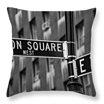 Union Square West Throw Pillow by Susan Candelario